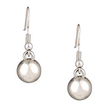 Stylish Faux Pearl Necklace and Earrings - SILVER/WHITE