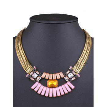Stylish Fake Gem Statement Necklace