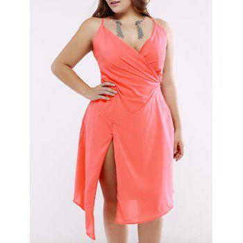 Oversized Low Cut Side Slit Asymmetrical Summer Dress