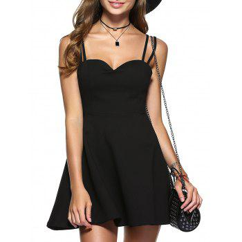 Strappy Backless A-Line Party Skater Dress