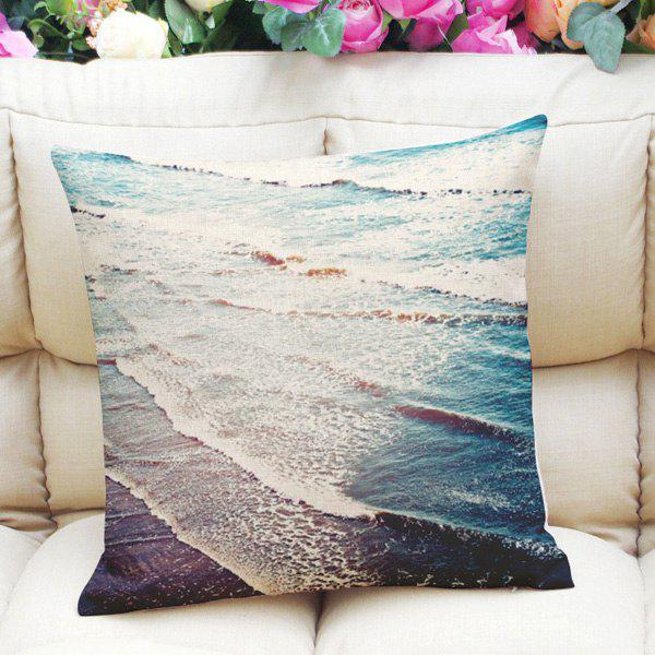 Sweet Home Decor Square Ocean Ripple Pattern Pillow Case