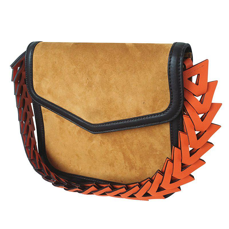 Leisure Cover and Suede Design Women's Shoulder Bag