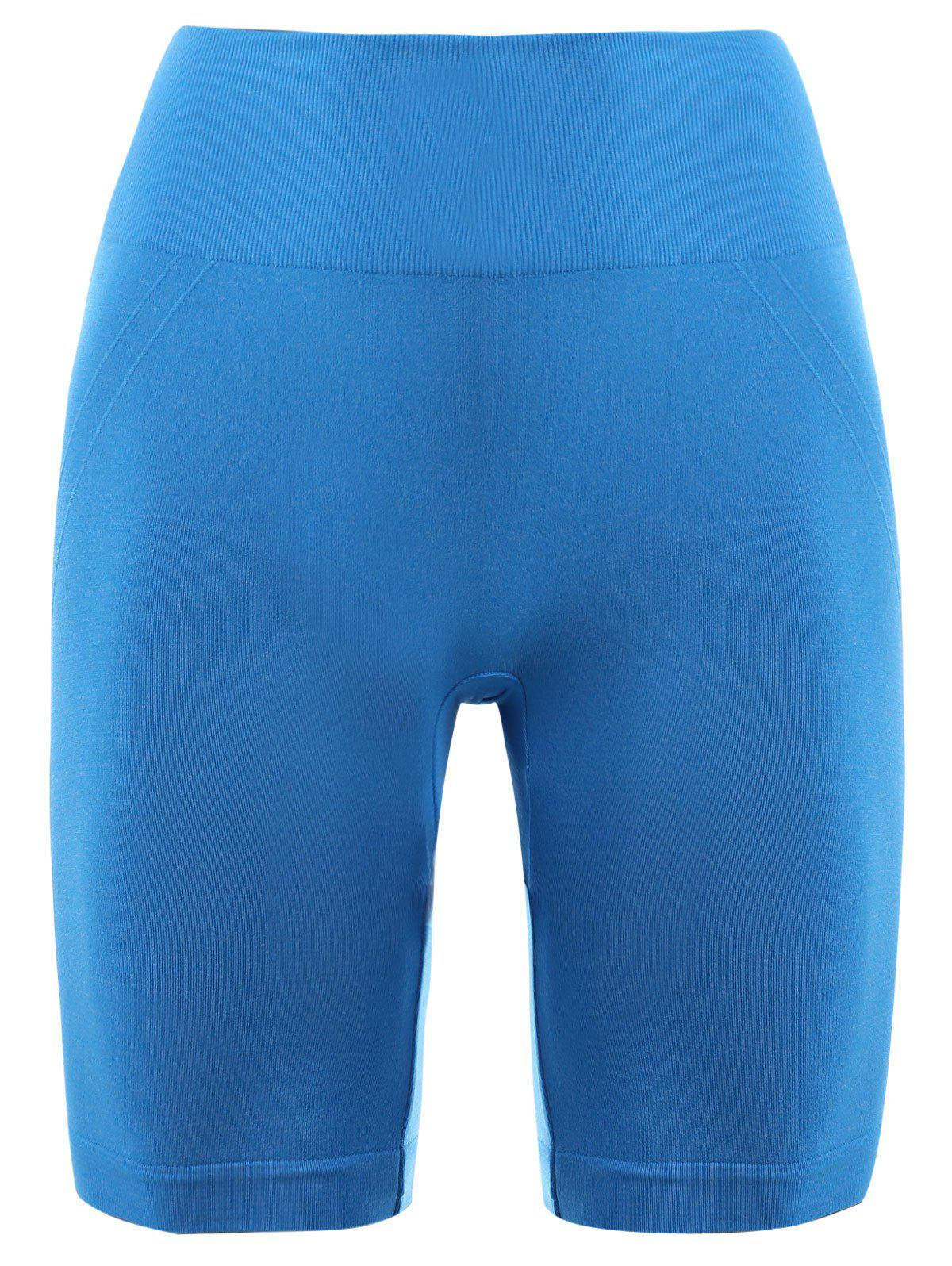 Skinny Sports Running Shorts - AZURE XS