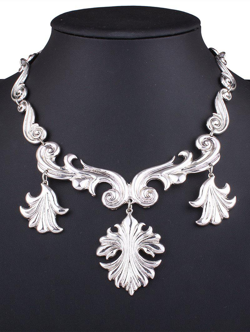 Stylish Solid Color Necklace - SILVER