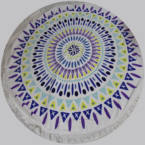 High Quality Colorful Printed Round Beach Throw With Tassels - COLORMIX