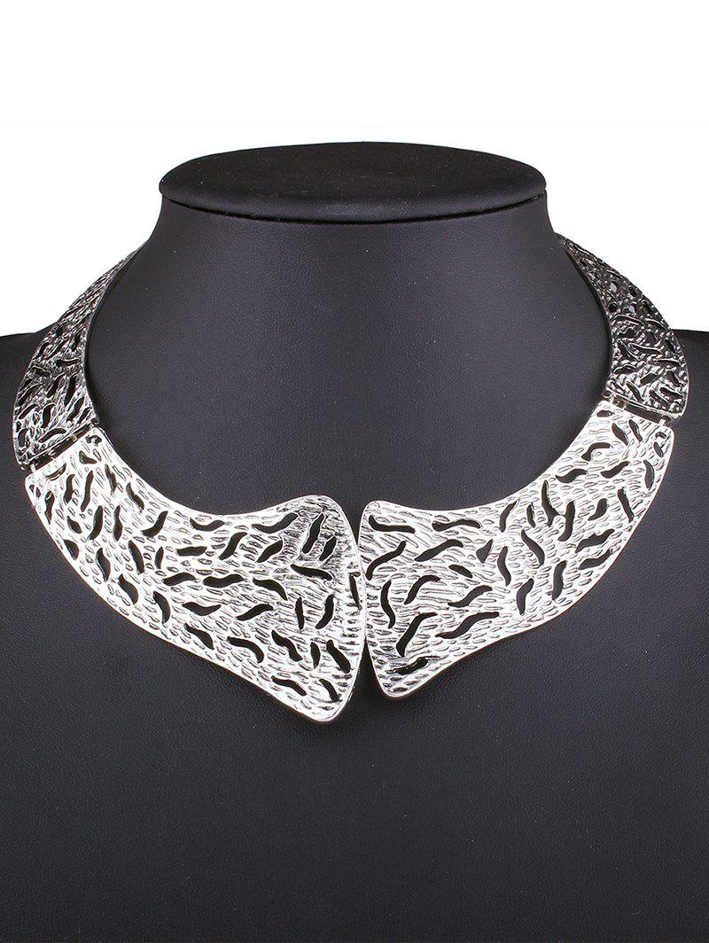 Vintage Style Hollowed Torques - SILVER