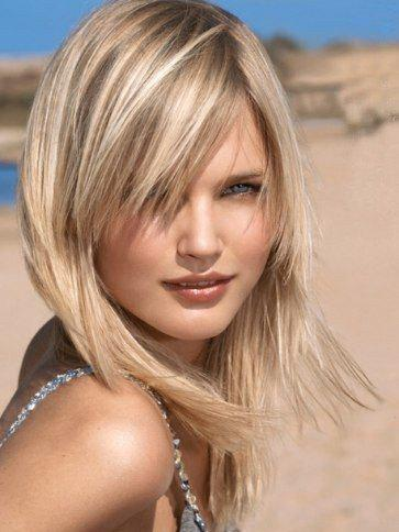 Graceful Long Side Bang Straight Mixed Color Synthetic Hair Wig For Women