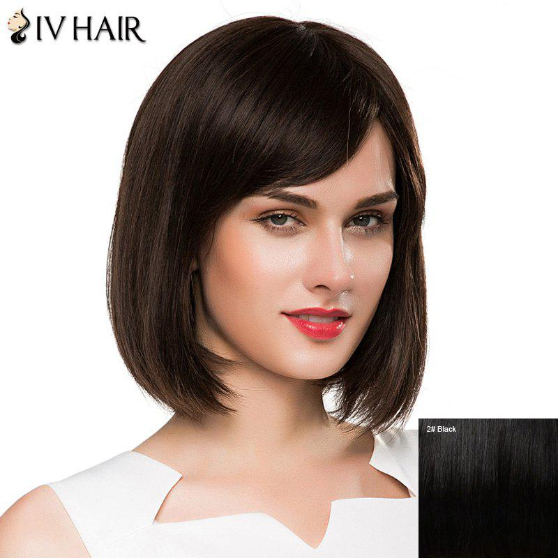 Ladylike Short Straight Women's  Side Bang Siv Human Hair Wig