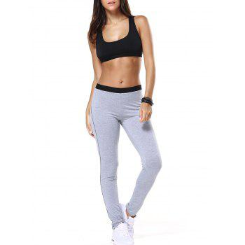 Black Racerback Tulle Spliced Bra and Skinny Yoga Pants
