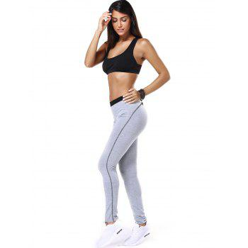 Racerback Tulle Spliced Bra and Running Jogger Pants - S S