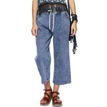 Casual Women's Wide Leg Ankle Jeans