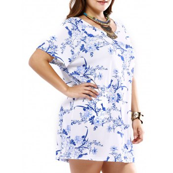 Plus Size Elegant Tiny Floral Dress