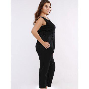 Sequined Sleeveless Open Back Plus Size Jumpsuit - 2XL 2XL