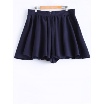Plus Size Stylish Tie Front Pleated Culotte - XL XL