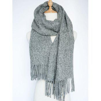 Stylish Tassel Knitted Wrap Scarf