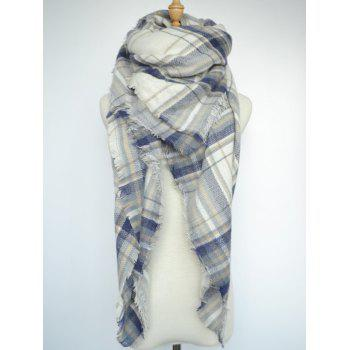 Stylish Tartan Pattern Large Square Scarf