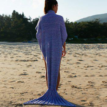 Chic Quality Comfortable Warmth Wool Knitting Mermaid Shape Blanket - PURPLE