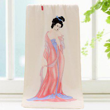 Elegant Ancient Beauty Pattern Change Color Towel