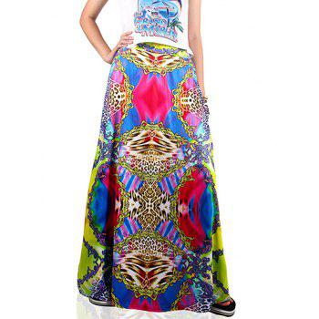 Ethnic Style Colorful Skirt