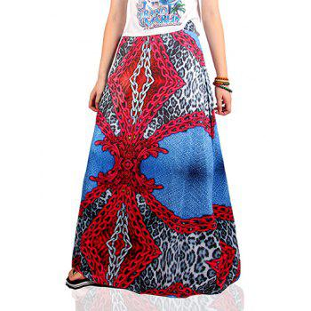 Ethnic Style Chain Pattern Skirt