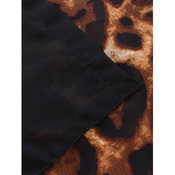 Plus Size Pockets Design Leopard Print Shirt - LEOPARD 6XL