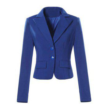 Single Breasted Lapel Neck Jacket Blazer
