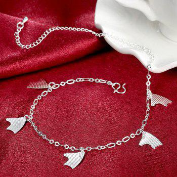 Geometric Charm Anklet - SILVER
