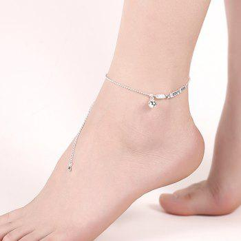 Elegant Pure Color Silver Plated Geometric Charm Anklet For Women -  SILVER