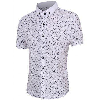 Full Star Print Men's Short Sleeves Button-Down Shirt