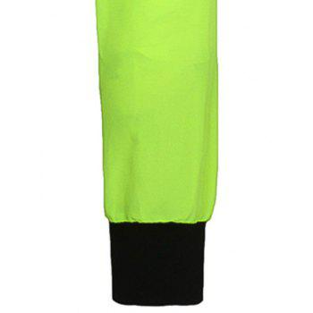 Color Block Stand Collar Long Sleeves Men's Sunproof Jacket - NEON BRIGHT GREEN M