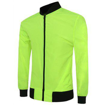 Color Block Stand Collar Long Sleeves Men's Sunproof Jacket