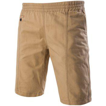 Casual Stretch Waistband Pockets Design Shorts For Men