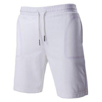 Chic Transparent Pocket design Drawstring Waistband Shorts pour hommes