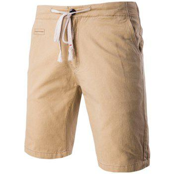 Chic Faux-Pockets Design Drawstring Waistband Shorts For Men