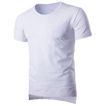 Brief Pure Color Pocket Short Sleeve T-Shirt For Men