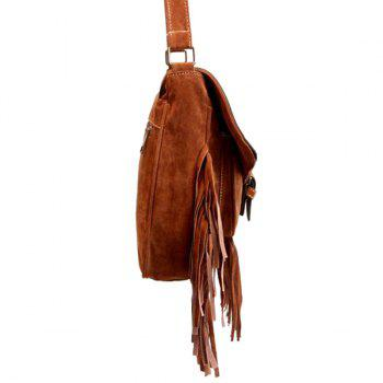 Ethnic Style Buckle and Engraving Design Women's Crossbody Bag -  BROWN