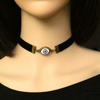 Vintage Faux Evil Eye Choker Necklace