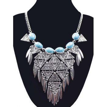 Ethnic Triangle Necklace - SILVER SILVER