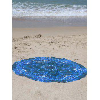 Ethnic Totem Print Sarong Beach Throw - BLUE LIGHT ONE SIZE(FIT SIZE XS TO M)