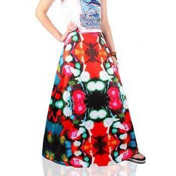 Ethnic Style Colorful Print Skirt