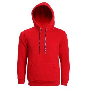 Hooded Long Sleeve Solid Color Men's Hoodie