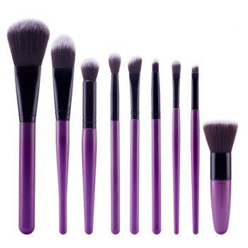 Professional 9 Pcs Soft Nylon Face Eye Lip Makeup Brushes Set