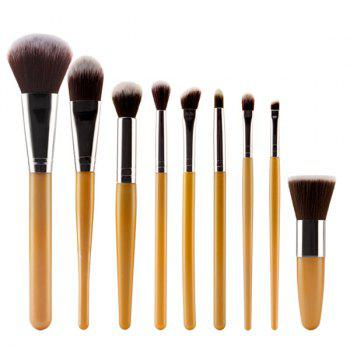 Professional 9 Pcs Plastic Handle Nylon Face Eye Lip Makeup Brushes Set