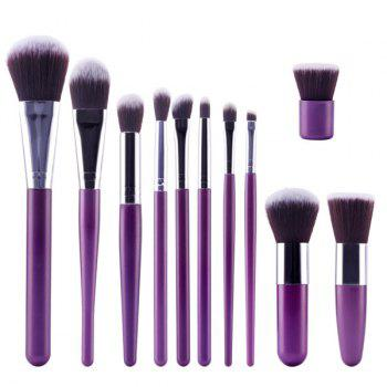 Professional 11 Pcs Soft Nylon Face Eye Lip Makeup Brushes Set