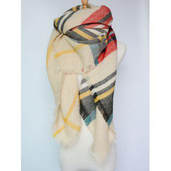 Stylish Tartan Pattern Wrap Scarf
