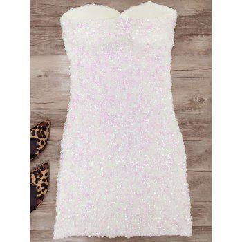 Mini Bodycon Slip Sequins Dress - ONE SIZE ONE SIZE