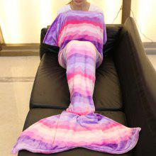 Ombre Wavy Mermaid Tail Style Sofa Soft Blanket