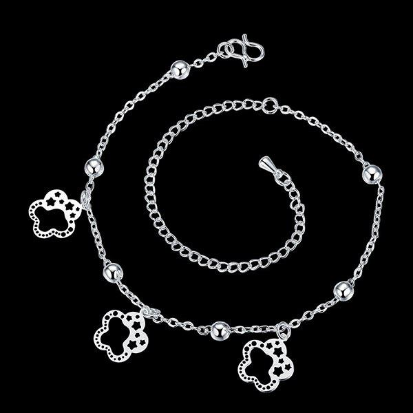Chic Style Solid Color Cut Out Flower Star Charm Anklet For Women
