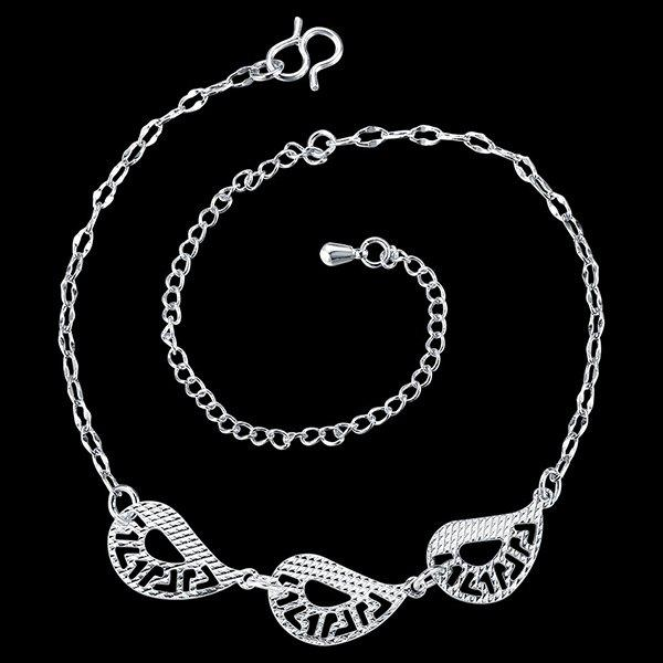 Delicate Hollow Out Teardrop Geometric Anklet For Women