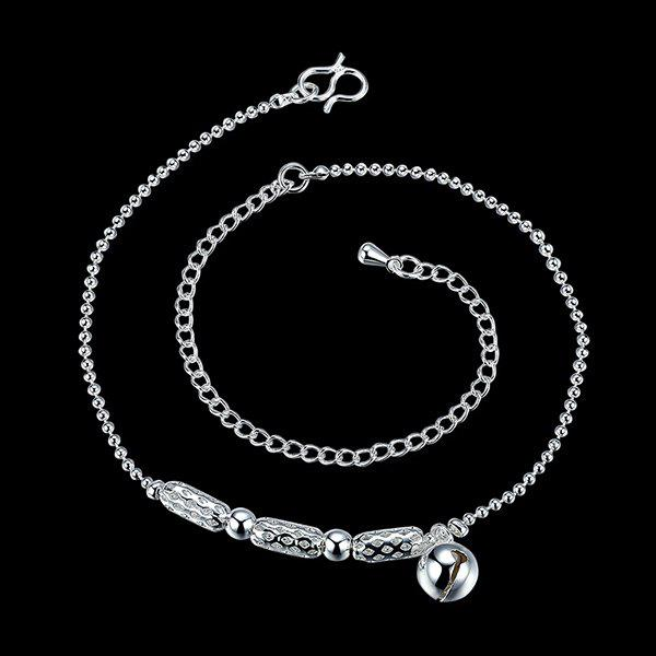 Elegant Pure Color Silver Plated Geometric Charm Anklet For Women
